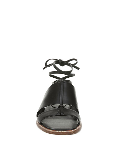 Forster Flat Ankle-Tie Sandals