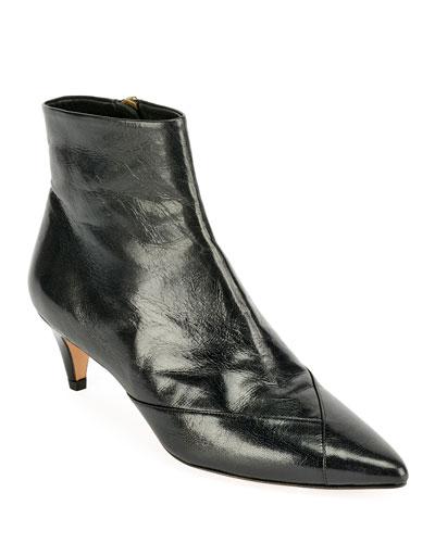 Durfee Leather Zip Booties