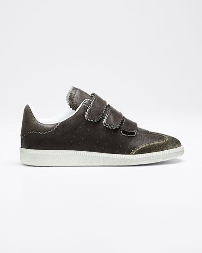 Beth Pinked Grip-Strap Sneakers