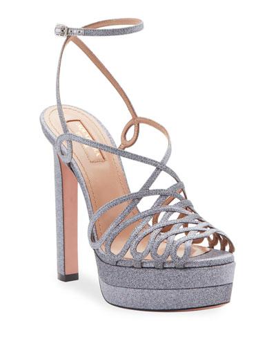 75a6581b6043 Monroe Plateau Glittered Platform Sandals