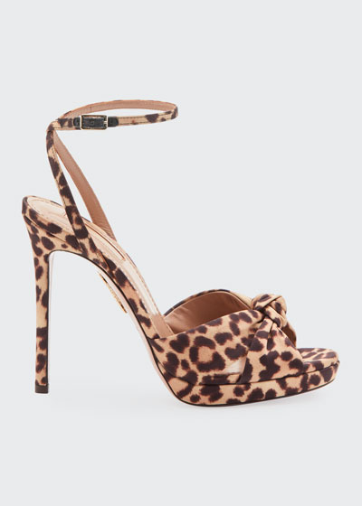 Chance Leopard-Print Platform Sandals