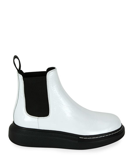 Colorblock Leather Chelsea Boots