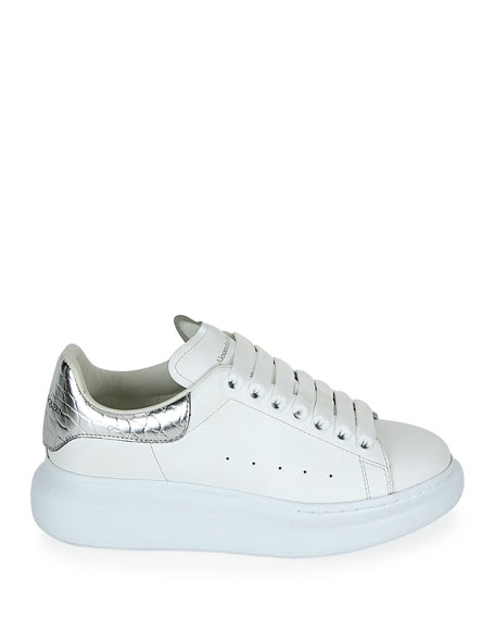Calf Leather Lace-Up Platform Sneakers