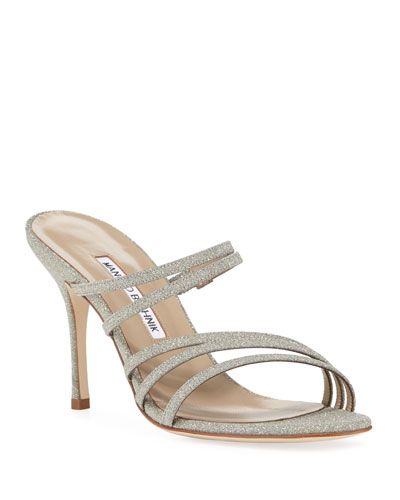 Adena Glittered Strappy Sandals