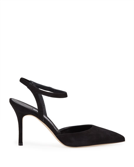 Minis Suede Ankle-Strap d'Orsay Pumps