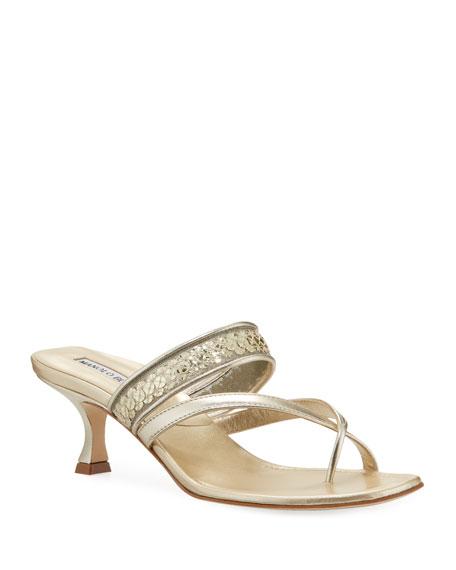 Susa Metallic Slide Sandals