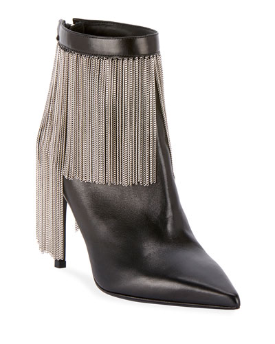 Mercy Chain-Fringe Booties