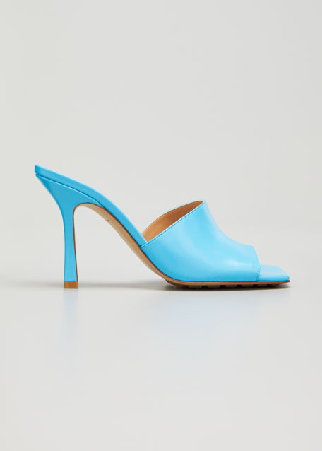 Square-Toe Open Mules