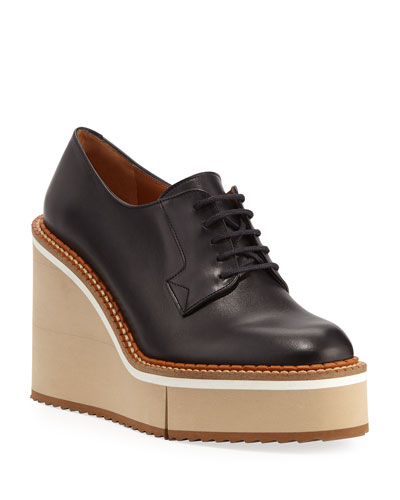 Bravo Leather Derby Wedges