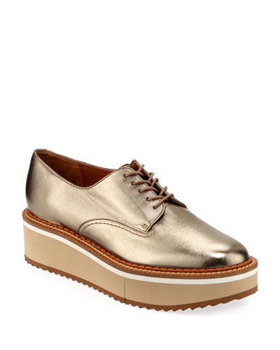 Berlin Metallic Platform Derby Shoes