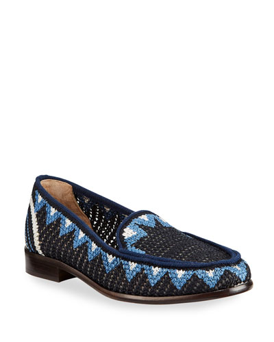 Blakie Sol Woven Loafers  Navy