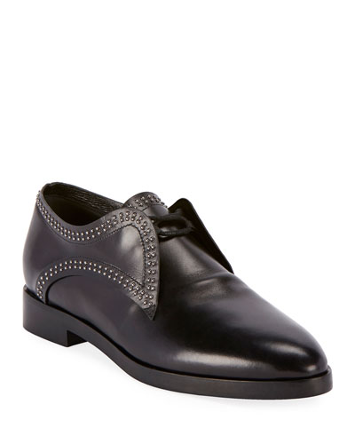 Ganse Calf Studded Loafers