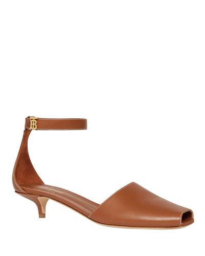 Stadling Kitten-Heel Sandals