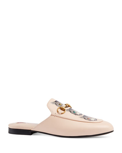 Princetown Mystic Cats Leather Mules