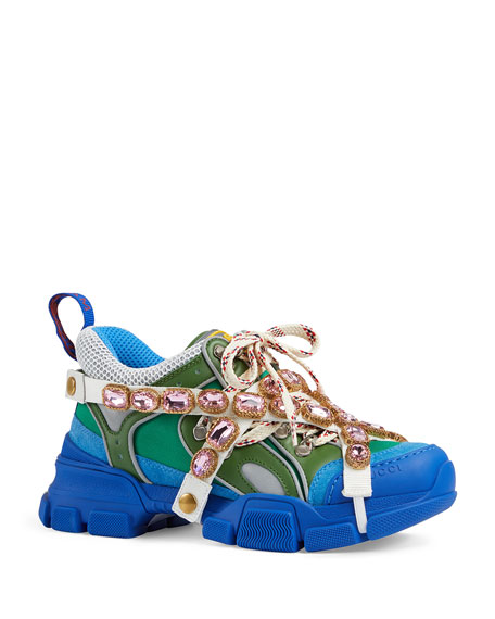 Gucci Flashtrek Crystal Hiker Sneaker