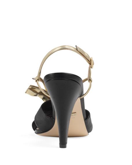 3e14aa806c1 Gucci Daphne Napa Bow Sandals
