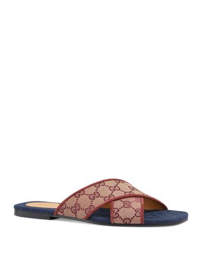 Senior Original GG Suede Slide Sandals