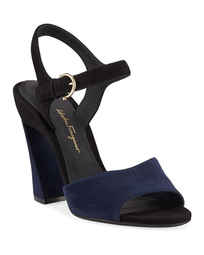 Aede Two-Tone Suede Sandals