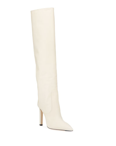 Mavis 100mm Leather Knee Boots