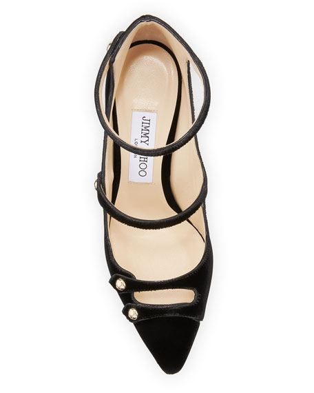 Lacey Velvet 100mm  Pump