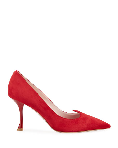 I Love Vivier Heart-Shaped Suede Pumps