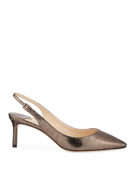 Erin Metallic Slingback Pumps