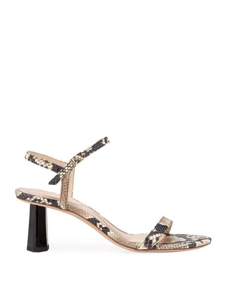 Magnolia Snake-Print Sandals