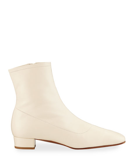 Este Zip Leather Booties