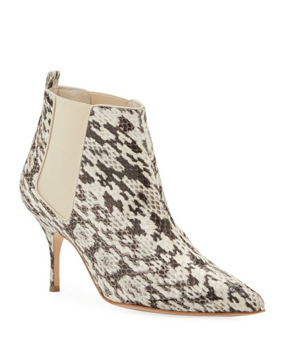 85de64c3b7ad6 Dildi Snakeskin Pointed Booties Quick Look. Manolo Blahnik