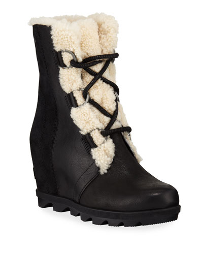 c7ff341ea52 Joan of Arctic Wedge II Waterproof Boots with Shearling Fur
