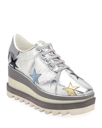 Sneakelyse Star Metallic Sneakers