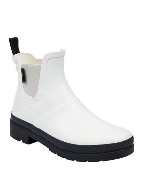 Lina Two-Tone Rubber Rain Booties