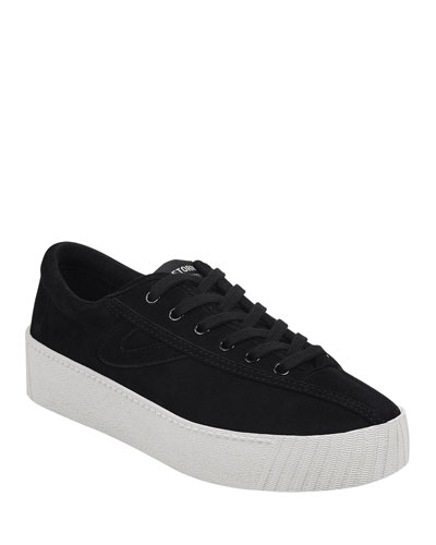 Nylite Perforated Suede Sneakers