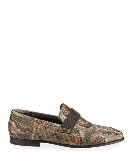 Python Loafers with Monili Strap