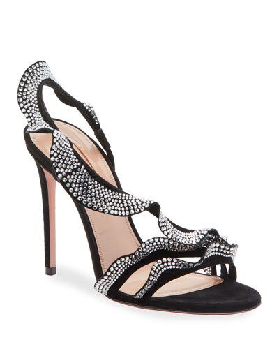 Ruffle Crystal 105mm Sandals
