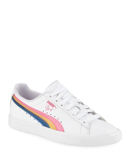 Clyde 90s Low-Top Leather Sneakers