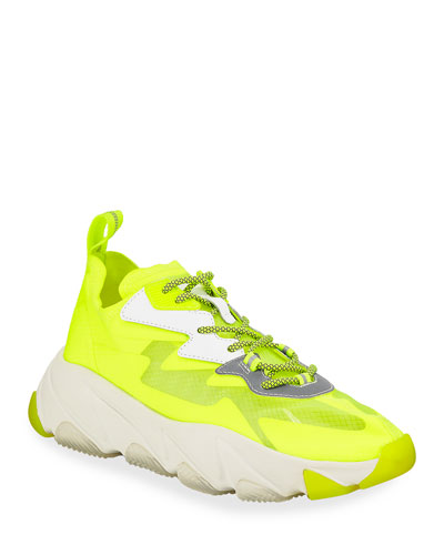 Eclipse Neon Lace-Up Sneakers