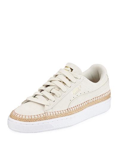 Sneakerdrille Low-Top Suede Espadrille Sneakers
