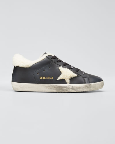 Superstar Shearling/Leather Low-Top Sneakers