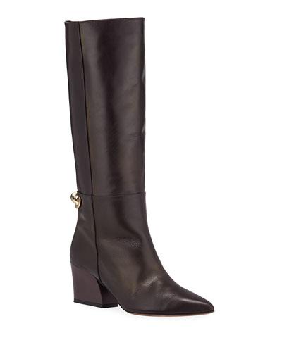 Rowan Tall Calfskin Bit Boots
