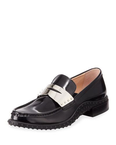Patent Leather Metal Penny Loafer