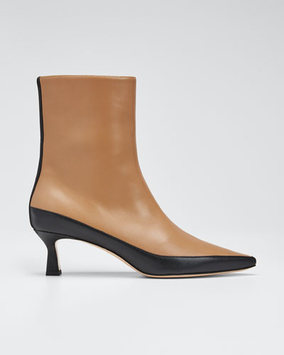 Bente Two-Tone Leather Booties