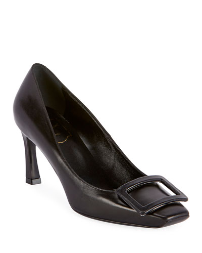 Leather Covered Trumpette Pumps