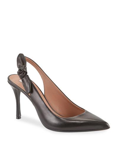 Millie Soft Bow Leather Pumps