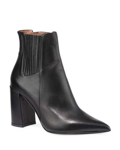 Noa Leather Pleated Booties