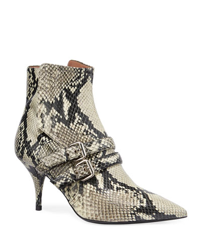 Easton Python-Print Booties