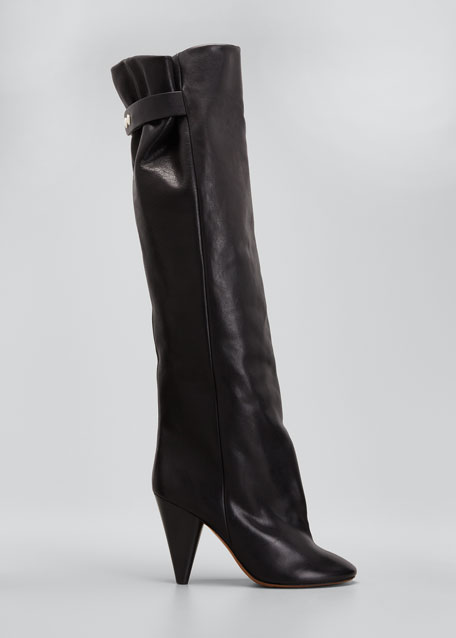 Lacine 90mm Leather Knee Boots