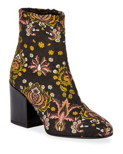 9a4b5f15f2 Floral-Jacquard Zip Booties Quick Look. Dries Van Noten