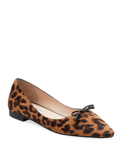 Leopard Calf Hair Ballet Flats