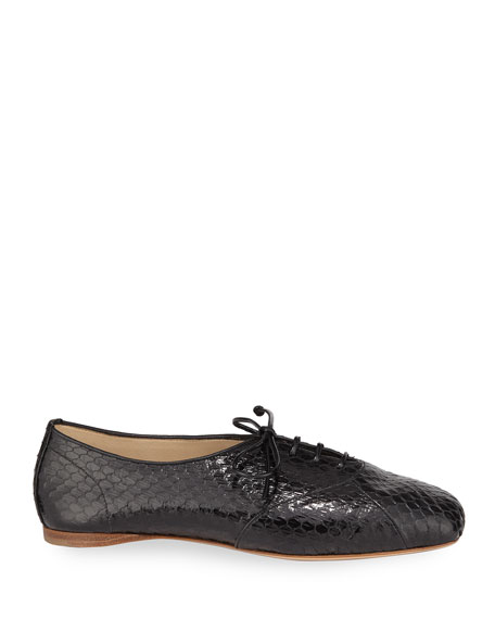 Maya Snakeskin Oxford Loafers